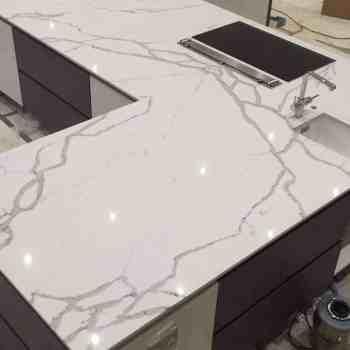 Statuario quartz worktops