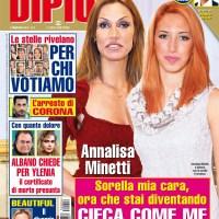 Annalisa Minetti, anche la sorella ha la sua stessa malattia agli occhi