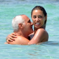 Giorgio Panariello con la bella fidanzata