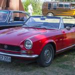 1974 Fiat 124 Sport Spider 1800 Front View 1970s Paledog Photo Collection