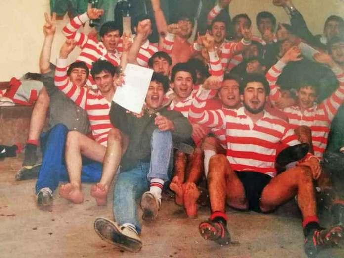 Foto del primer año de rugby en Palencia, temporada 1987/88.