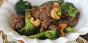 Beef and Broccoli Cashew Stiry Fry