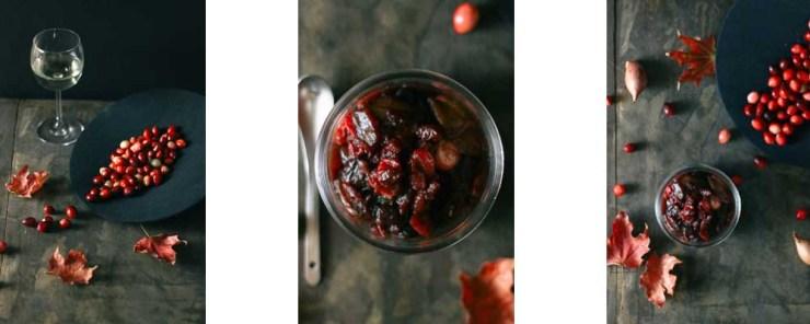 Paleo-ish Sour Cherry Cranberry Sauce