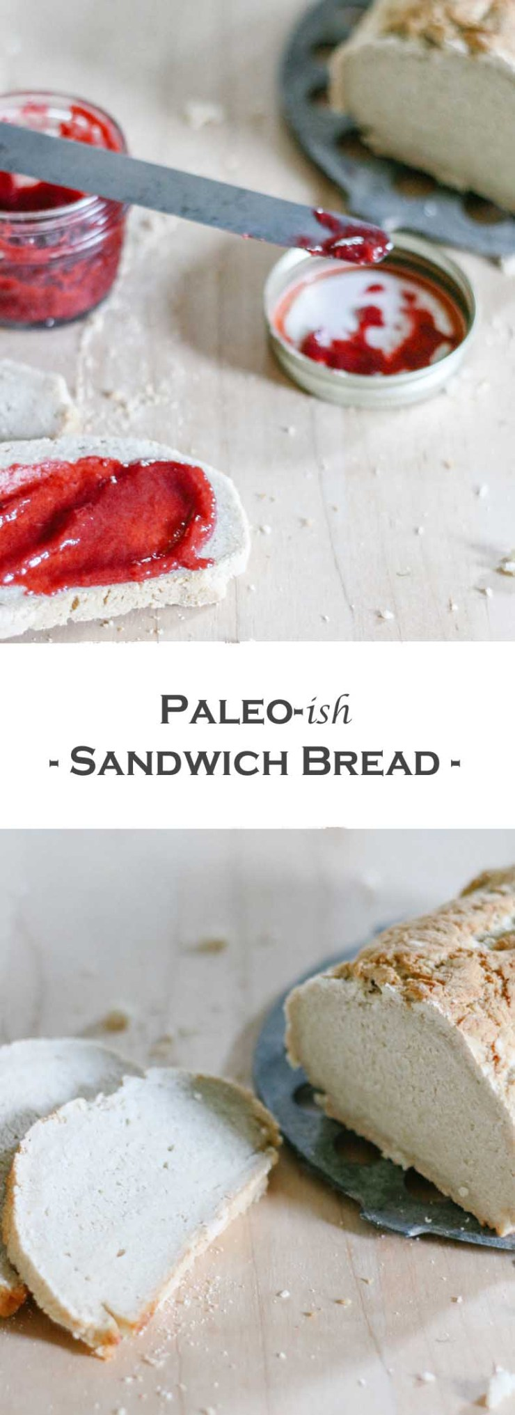 This wonderfully delicious every-day Paleo-ish Sandwich Bread is easier to make and less labour-intensive than regular bread! It's also gluten-, egg-, and dairy-free!