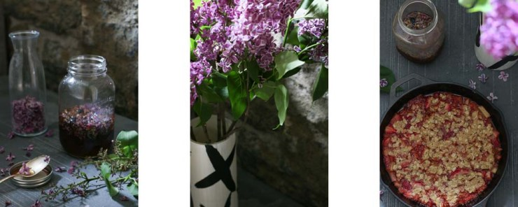 Paleo-ish Lilac Strawbarb Crumble
