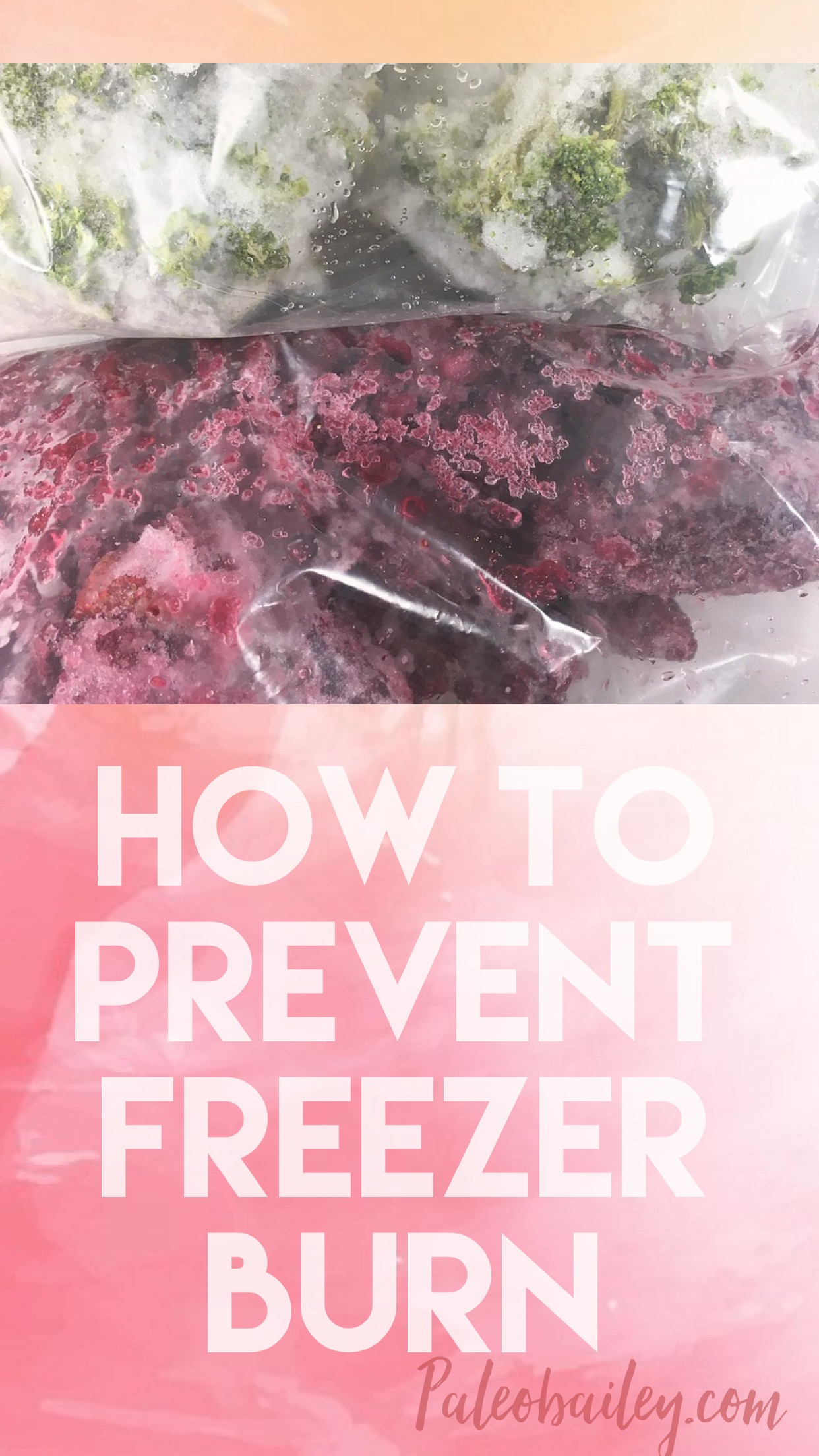 how to prevent freezer burn