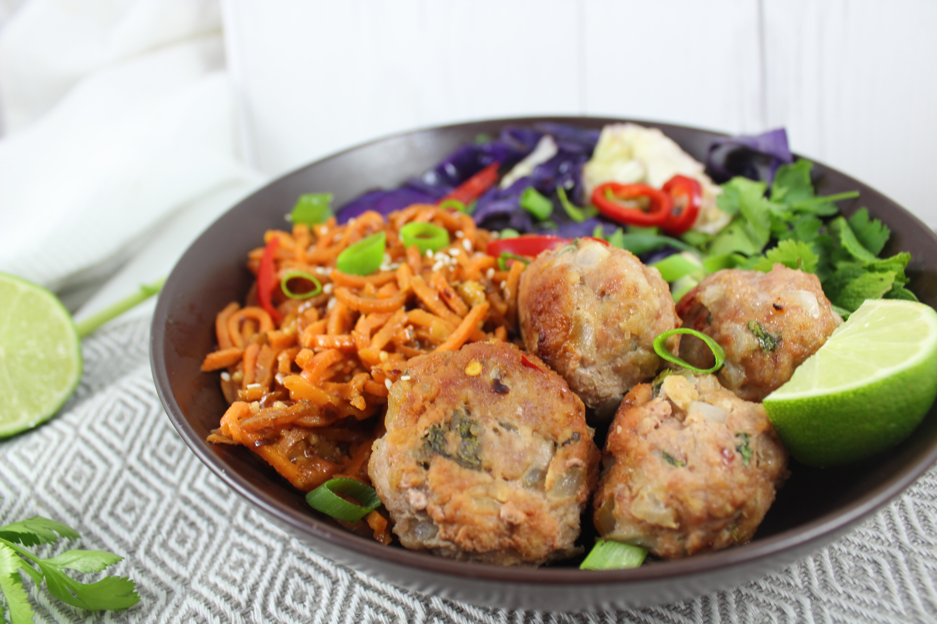 spicy pork meatballs