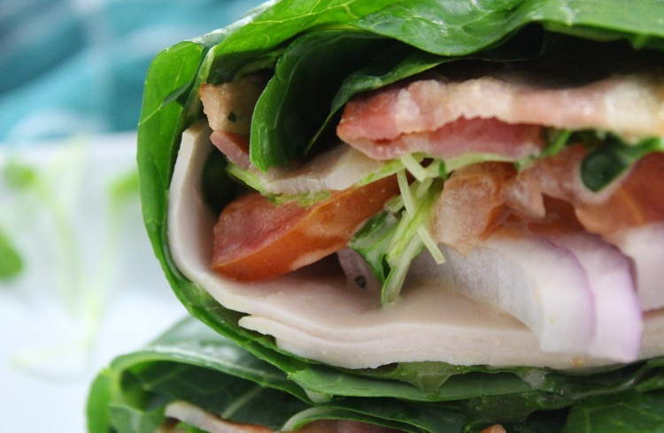 Turkey Bacon Caesar Wraps: Easy Paleo and Whole30 Lunch