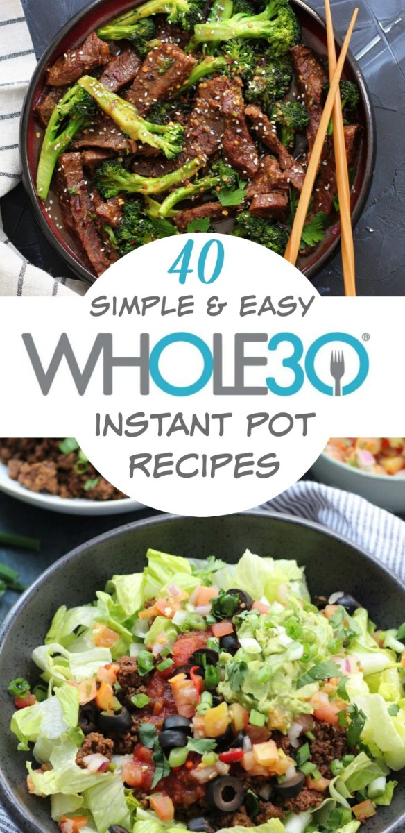 40 Whole30 instant pot recipes so you cook Whole30 recipes while spending less time actually cooking. Whole30 instant pot recipes that are easy meal prep, quick clean up, and family friendly healthy recipes. Includes Whole30 and Paleo instant pot chicken, soups, beef, Whole30 instant pot side dishes, and more for all the Whole30 recipes you'll need. #whole30instantpot #paleoinstantpot #whole30dinnerrecipes #whole30instantpotchicken via @paleobailey