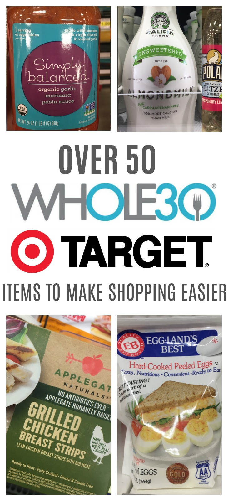 Whole30 just got easier with these Whole30 Target options! From Whole30 meat, healthy fats, compliant milk and emergency foods, grocery shopping for Whole30 will be quick and easy in one store. #whole30target #whole30grocery #whole30tips #targetwhole30