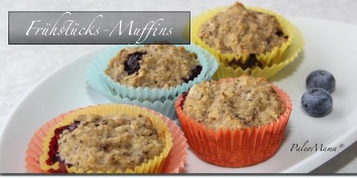 Paleo Frühstücks-Muffins mit Hirse und Blaubeeren