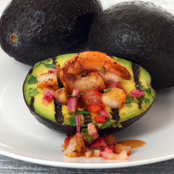 Grilled Avocado Shrimp Boat from Paleo Newbie