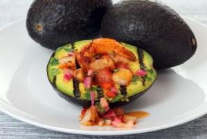 Grilled Avocado Shrimp Boat