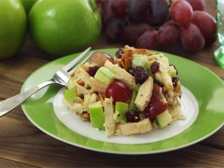 Paleo Chicken Apple Cranberry Pecan Salad