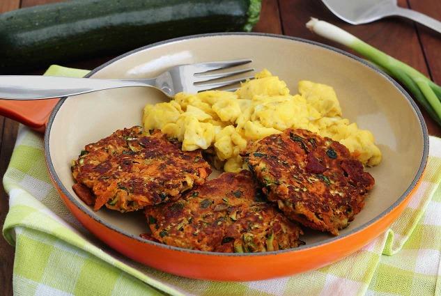 paleonewbie.com recipe bacon zucchini carrot fritters paleo recipe