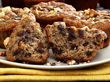 Banana Nut Chocolate Chip Muffins Recipe