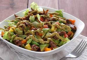 Paleonewbie.com Slow Cooker Shredded Beef Salad recipe