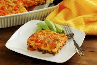 Paleo Chorizo Egg Bake Breakfast