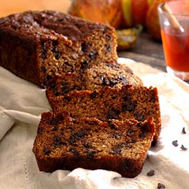 Pumpkin Bread with Mini-Chocolate Chips Recipe