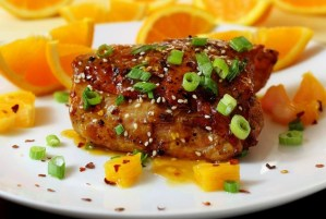 Recipe for paleo and gluten-free Asian Orange Chicken from paleonewbie.com