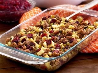 Paleo Sausage, Apple & Cranberry Stuffing