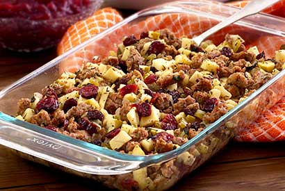 Paleo Sausage, Apple & Cranberry Stuffing Recipe