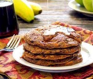 easy recipe for banana-carrot pancakes
