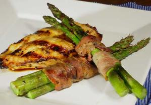 paleo recipe bacon wrapped grilled asparagus