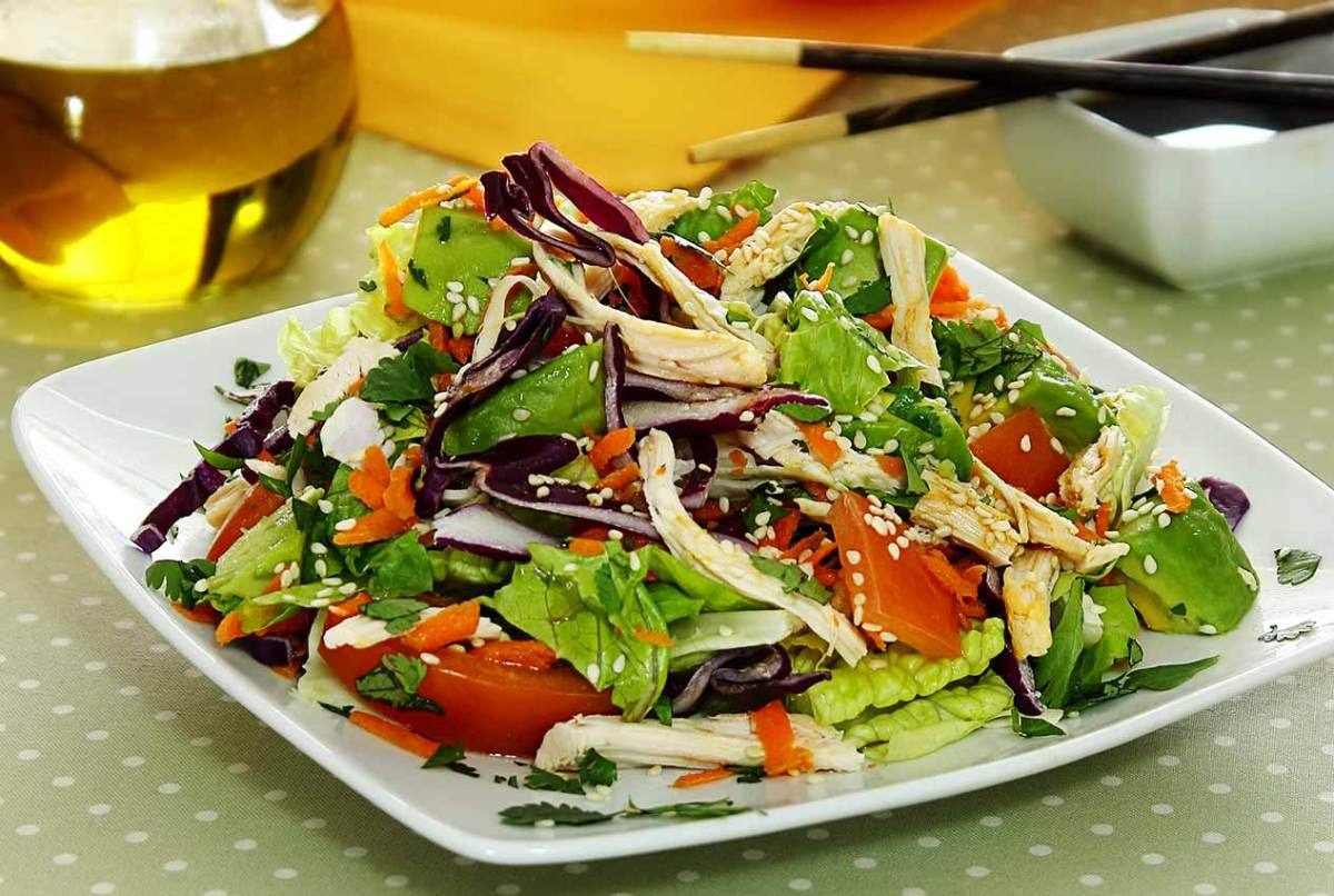 easy paleo recipe Asian Chicken Salad with Sesame Dressing