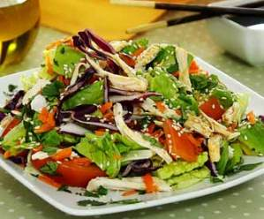 easy paleo recipe for chicken salad with sesame lime dressing