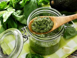 Paleo Pesto-Avocado Sauce