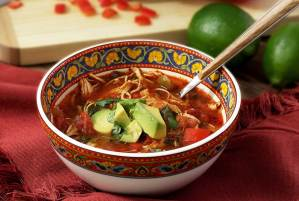 easy paleo recipe for a hot slow cooker chicken fajita soup