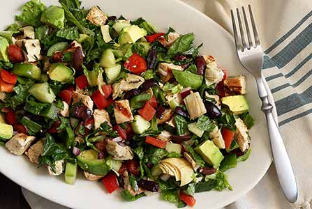 Paleo Greek Chopped Salad with Grilled Chicken Recipe