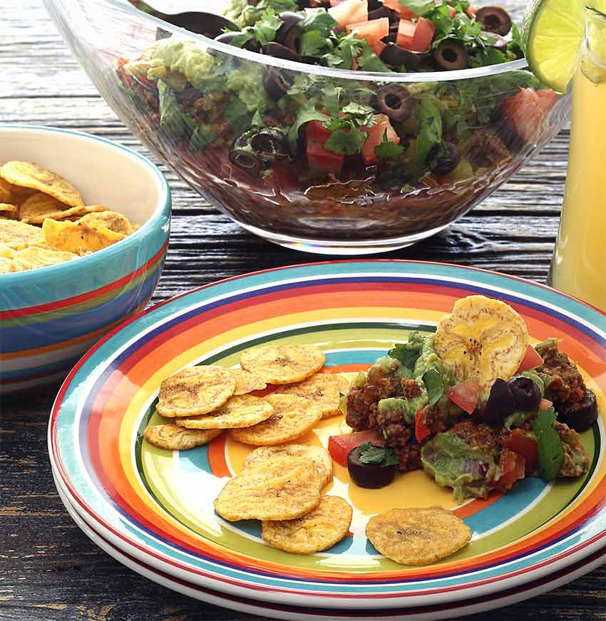 Easy paleo recipe for Mexican Layered (No-Bean) Dip
