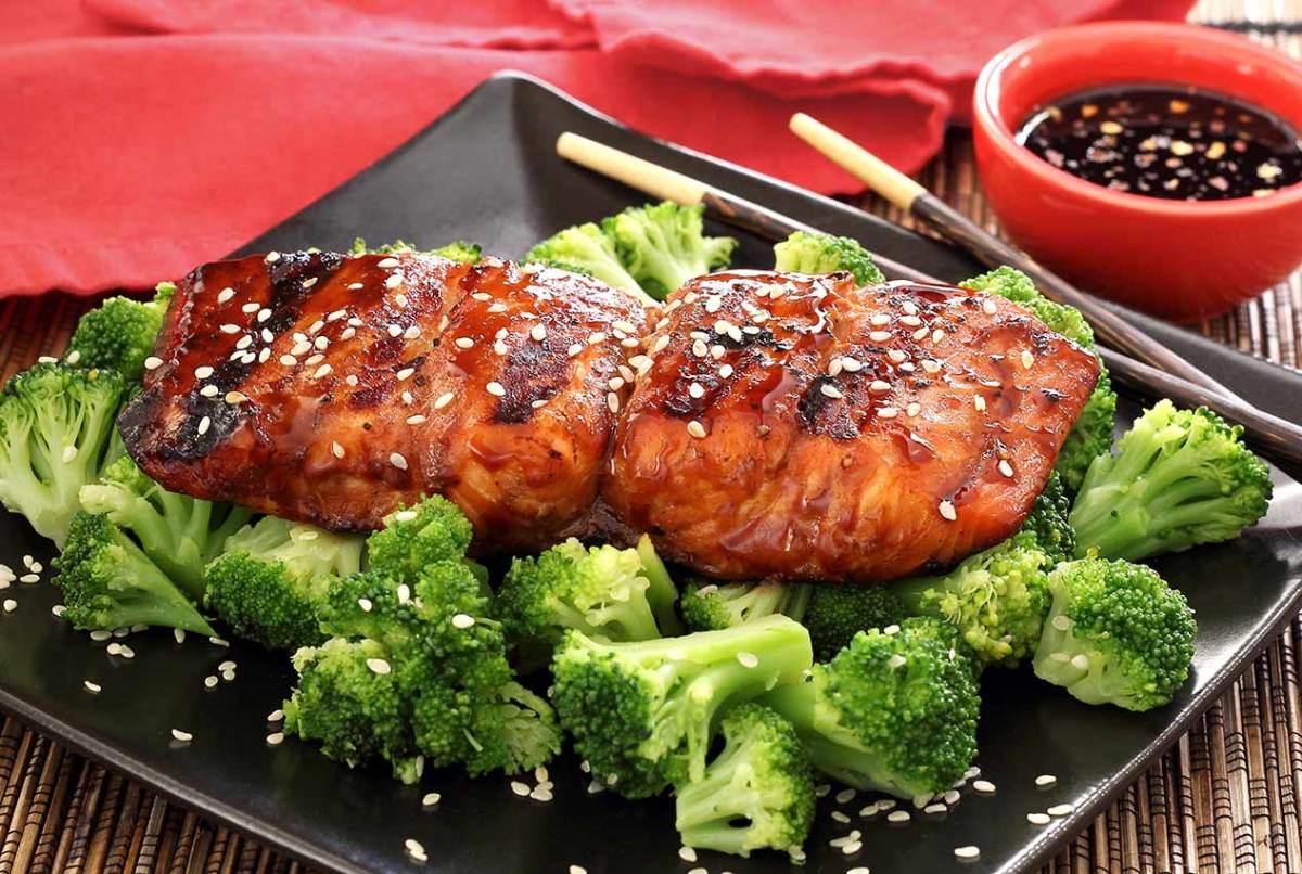 simple paleo recipe for grilled teriyaki salmon
