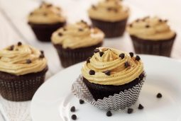 """easy paleo recipe for cupcake treats with """"peanut butter"""" frosting"""