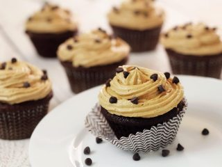 "Paleo Chocolate Cupcakes with ""Peanut Butter"" Frosting"