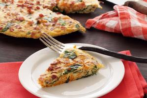 easy paleo recipe for a spinach-pancetta frittata