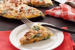 easy paleo recipe for a frittata with spinach and pancetta