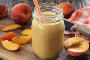 easy paleo recipe for a paleo peach smoothie