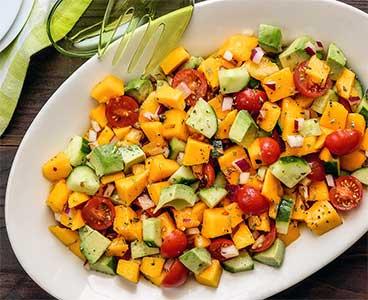 easy paleo recipe for a refreshing mango summer salad