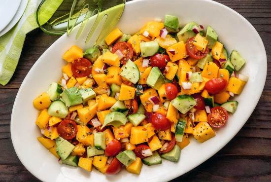 simple paleo mango salad recipe