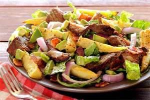 easy paleo recipe steak potatoes salad