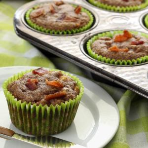 easy paleo recipe for apple bacon muffins