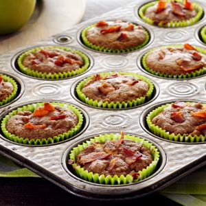 simple paleo recipe for apple bacon muffins