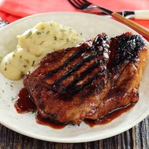 Saucy Grilled Paleo Pork Chops Recipe