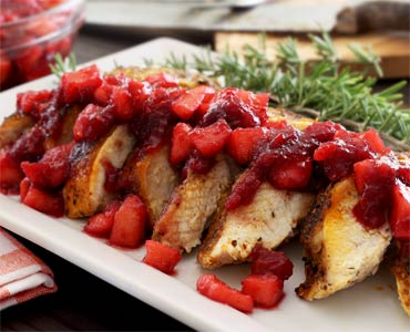 Turkey for Two with Apple-Cranberry Compote