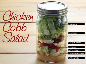 mason jar cobb salad