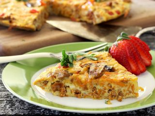 Paleo Chorizo, Sweet Potato and Mushroom Frittata