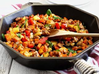 Paleo Hash with Sausage & Sweet Potato